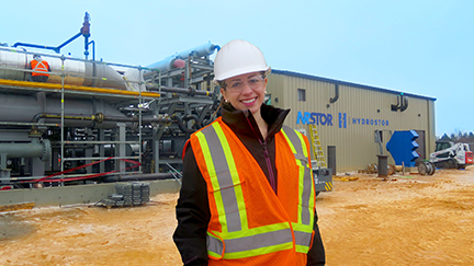 Katherine Peretick at NRStor project in Goderich low res copy